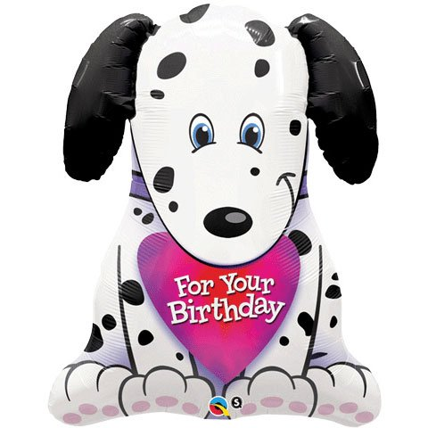 Puppy Shaped Jumbo Foil Balloon (White) Party Accessory - 1