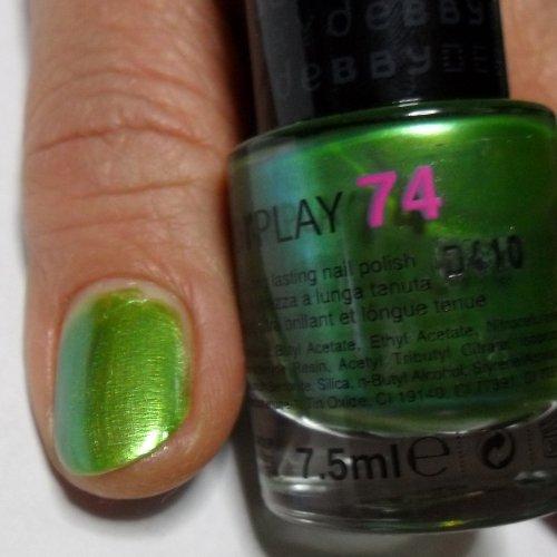 Smalto Per Unghie Debby Colorplay Shocking Colours 74 Verde Acido
