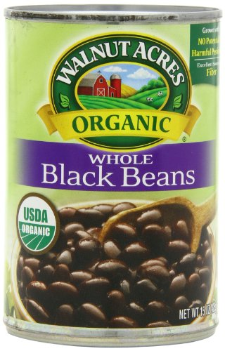 Walnut Acres Organic Whole Black Beans, 15 Ounce Cans (Pack of 12) (Black Beans Can compare prices)