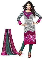 VSS Collections Women's Synthetic Unstitched Dress Material(1055,Multi-Color)