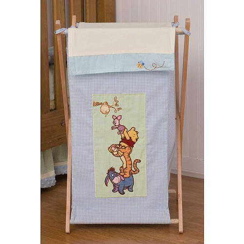 Winnie The Pooh Hunting For Hunny Clothes Hamper Whit Mesh Bag And Wood Stand front-1031916