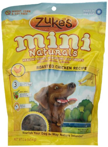 Zuke'S Mini Naturals Roasted Chicken Recipe Dog Treats 1Lb Pack Of 3 front-59268
