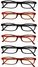 Extra Pair® Value Eyes Plastic Frames 6 Pack - Incredible Value, 1.75