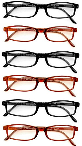 Extra Pair® Value Eyes Plastic Frames 6 Pack - Incredible Value, 2.00