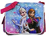 Purple Elsa, Olaf, and Anna Disney Frozen Messenger Laptop Bag