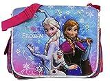 Purple Elsa, Olaf, and Anna Disney Frozen Messenger Laptop Bag