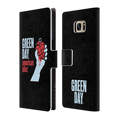 Ufficiale Green Day American Idiot Arte Chiave Cover a portafoglio in pelle per Samsung Galaxy S7 edge
