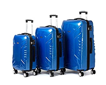 Jipin Alhambra Spinner 3 Piece Luggage Set (blue)