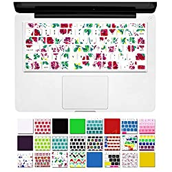 DHZ Keyboard Cover Silicone Skin for MacBook Pro 13 15 17 (with or w/out Retina Display) iMac and MacBook Air 13 (Celadon flower)