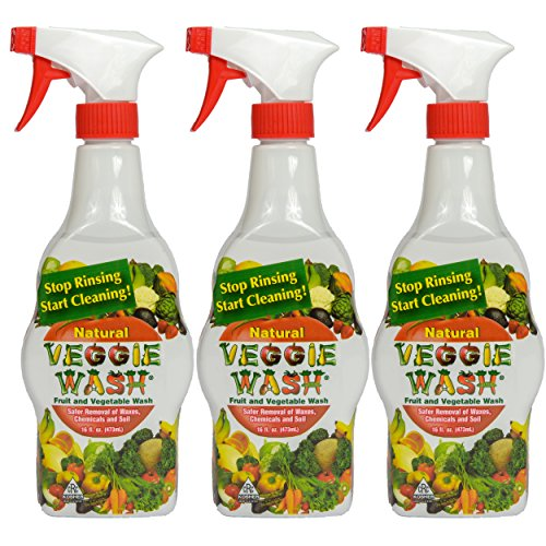 Veggie Wash All Natural Fruit and Vegetable Wash Sprayer, 16-Ounce Spray, 3-Pack (Organic Fruit And Vegetable compare prices)