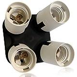 Standard E26/E27 4 in 1 Socket Adapter-Socket Splitter for Photo Studio & Home Lighting