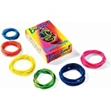 Alliance Brites Rubber Band, Pic Pac Dispenser Box - Six Different Sizes in Vivid Colors, 1.5 oz Box (7706)