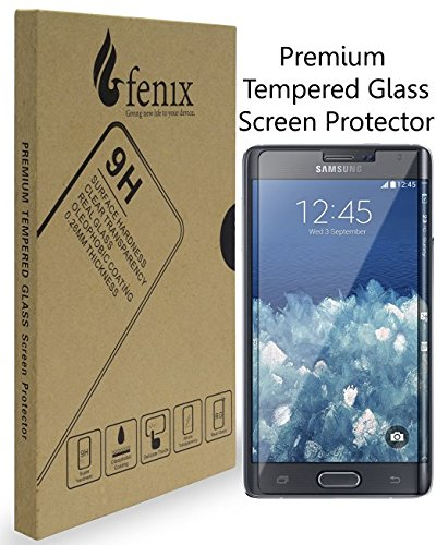 Fenix - Samsung Galaxy Note Edge [0.26mm Thickness] 9-H Premium Tempered Glass Screen Protector with Two Year Warranty / Ultra High Definition Invisible, Clear Transparancy, Oleophobic Coating and Anti-Bubble Crystal Shield (Galaxy Note Edge Protector Glass compare prices)