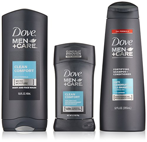Dove Men+Care Hygiene Kit, Clean Comfort 3 Count