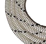 Schot-Tauwerk-Allroundleine 10mm Kennung schwarz 50m