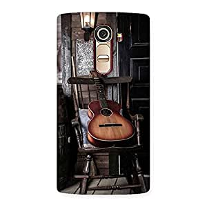 Cute Old Guitar On Chair Back Case Cover for LG G4