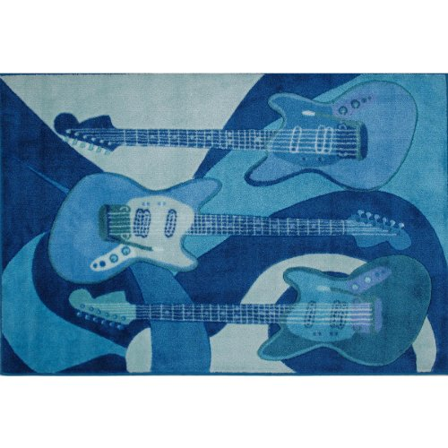 Blue Guitars Extra High Pile Area Rug 39