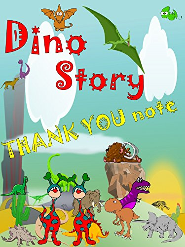 Dino Story Thank You Note