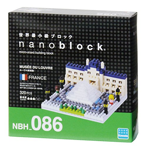 Kawada NBH086 Nanoblock The Louvre Museum Building Kit