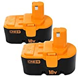 Enegitech 2-Pack 3.0Ah Replacement for Ryobi One Plus 18V P100 P101 Battery and ABP1801 ABP1803 Tools