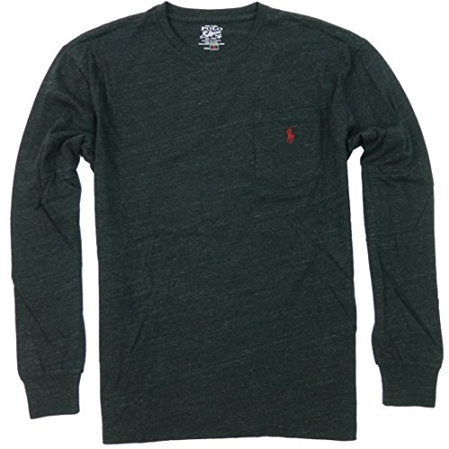 Polo Ralph Lauren Men's Classic Fit Long Sleeve Crew Neck T-Shirt Small Black Marl