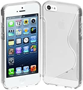 Cimo S-Line Back Flexible Cover TPU Case for Apple iPhone 5 - Clear