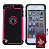 BZ Gadget Shock Proof Case Cover for Apple iPod Touch 5G 5th Generation (Hot Pink) + BZ Gadget Cleaning Cloth