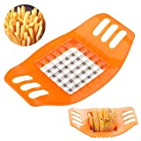 Generic Portable Stainless Steel Potato Chips Cutter Vegetable Strip cutter Slicer Lazy Kitchen Tool