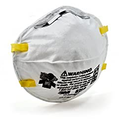 3M Particulate Respirator 8210, N95Mask, NIOSH Approved, Pack of 1