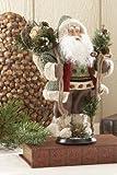 "12"" Woodland Standing Santa, Green"