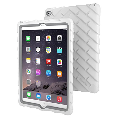 Apple iPad Air 2 Drop Tech White Gumdrop Cases Silicone Rugged Shock Absorbing Protective Dual Layer Cover Case (Original Ipad Case Protective compare prices)