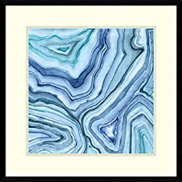 Framed Art Print, \'Custom Agate Abstract II\' by Megan Meagher: Outer Size 23 x 23\