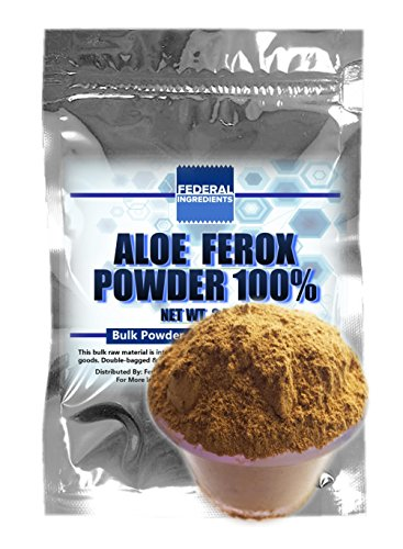 ALOE FEROX POWDER - 2.5 Ounce (70 Grams) Lab Grade Sample - Made in the USA by Federal Ingredients - aka aloe ferox heb powder aloe ferox plant aloe ferox bitters cape aloe ferox cleanse (Aloe Arborescens Juice compare prices)