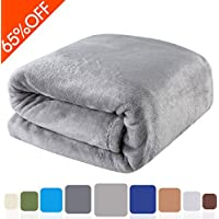 Balichun 330GSM Fleece Queen Bed Blanket (Dark Grey)