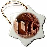 3dRose Danita Delimont - Cliff Dwellings - Manitou Cliff Dwellings, Colorado, USA - US06 WBI0331 - Walter Bibikow - 3 inch Snowflake Porcelain Ornament (orn_143359_1)
