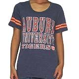 Womens NCAA Auburn Tigers Crew-Neck Cotton T-Shirt / Tee