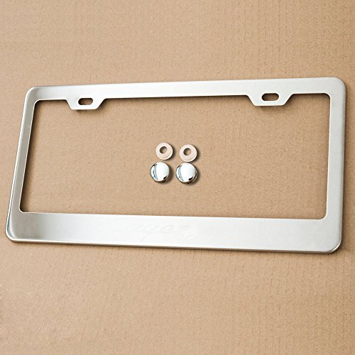 Stainless Steel License Plate Frame Holder 2 Screw Holes w adjustable space (CHROME) (Italia License Plate Frame compare prices)