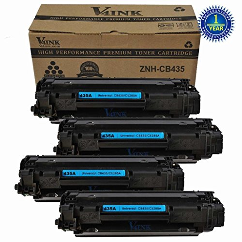 V4ink ® 4 pack New Compatible CE285A 85A CB435A Toner Cartridge-1,500 Page Yield for LaserJet P1002 1003 1004 1005 1006 1009 P1102 P1102w, M1130 M1138 M1139 M1216 nfh M1132 M1212 nf M1217 nfw M1134 M1212F M1219 nf M1219 nf M1136 M1213 nf M1137 M1214 nfh