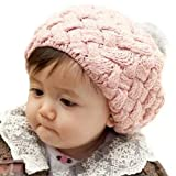 Winter Warm Cute Baby Kids Girls Toddler Knit Beanie Crochet Rib Pom Pom Hat Cap