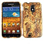 RUBBER COATED HARD CASE FOR SAMSUNG EPIC 4G TOUCH GALAXY S II D710 FOREST CAMO BROWN LEAVES