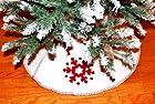 White Snowflake Christmas Tree Skirt Holiday Decoration SKIRT