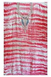 Pink Color Gotta Patti Necklace Work Kurti Dress Material