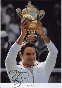 Roger Federer Signed Autographed A4 Photo Print Poster
