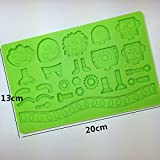 3d Toy Story Cupcake Decorating Mold Silicone Mould Fondant Chocolate Bakeware