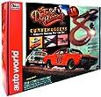Round 2 Auto World: Dukes of Hazard Curvehuggers Slot Car Set