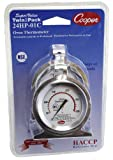 Cooper-Atkins 24HP-01C-1 Stainless Steel Bi-Metal Super Value Twin2Pack 24HP Oven Thermometers, 50 to 300 degrees C Temperature Range (Pack of 2)