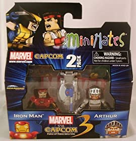 Marvel Vs Capcom 3 Minimates 2-Pack Iron Man & Arthur