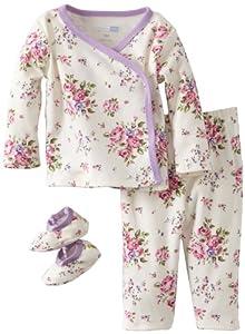Vitamins Baby-girls born 3 Piece Flower Bouquet Pajama Set by Vitamins Baby