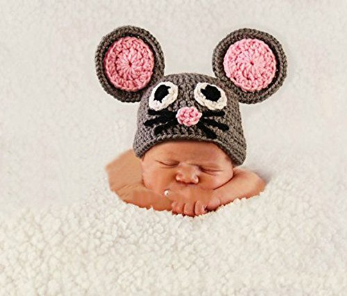 Jastore® Photography Prop Baby Infant Costume Cute Cat Crochet Knitted Hat Cap
