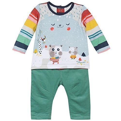 Catimini Naissance Garcon Spirit Grafica, Ragazzi, Combinazione dai pantaloni (verde) e Parte superiore in (colorato) con Stampa - Amande, 12M 80